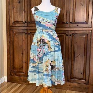 Boden Nancy Dress - Riviera - Blue sz 10